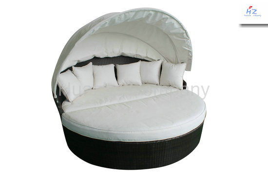 Rattan Lying Bed Outdoor Backyard Wicker Rattan Patio Furniture