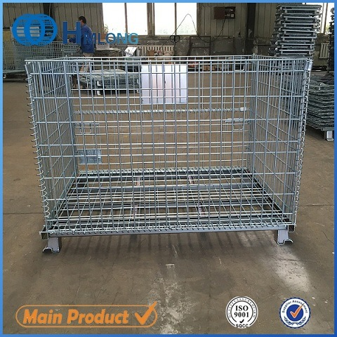 Large Welded Rigid Stack Wire Mesh Containers