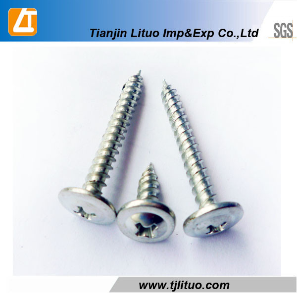 White Zinc Plated Wafer Head Self Drilling/Tapping Screw