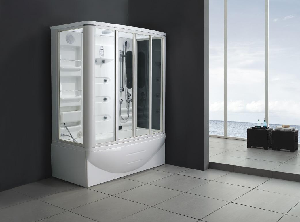 New Style Steam Shower Room with Massage Bathtub M-8239