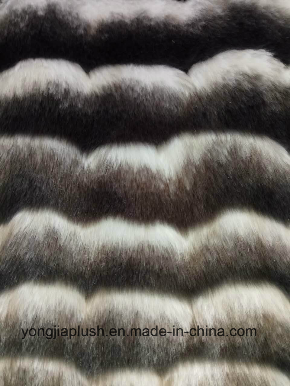 Wave Stripe Faux Fur