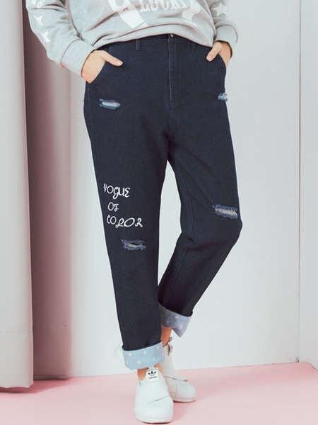 2017 New Design Women′s Leisure Denim Jeans