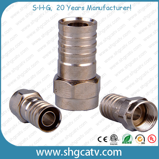 Coaxial Cable RG6 Rg59 Crimp Type F Connector