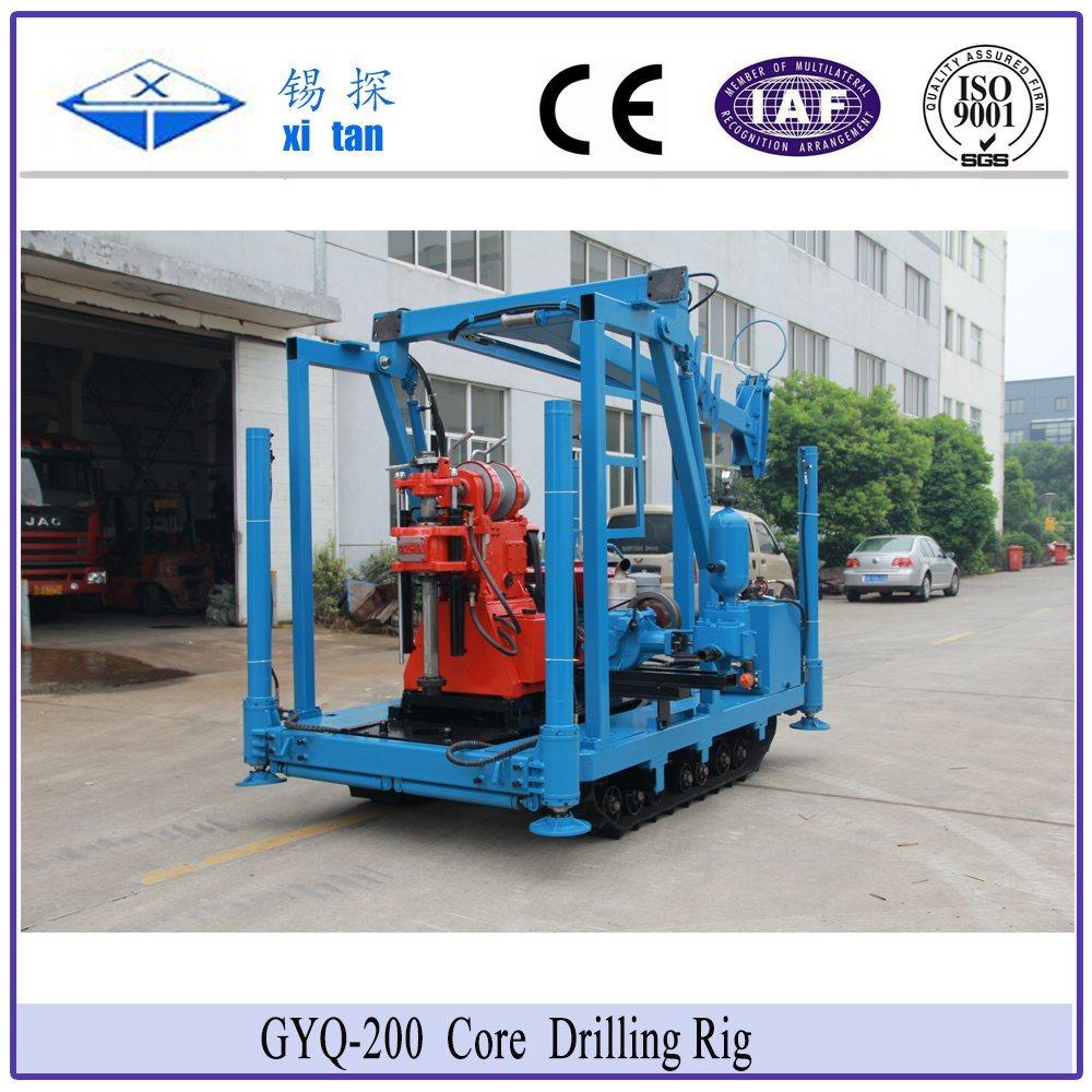 Xitan Gyq200 Core Drilling Rig Soil Investigation Drilling Machine Spt Mining Drill