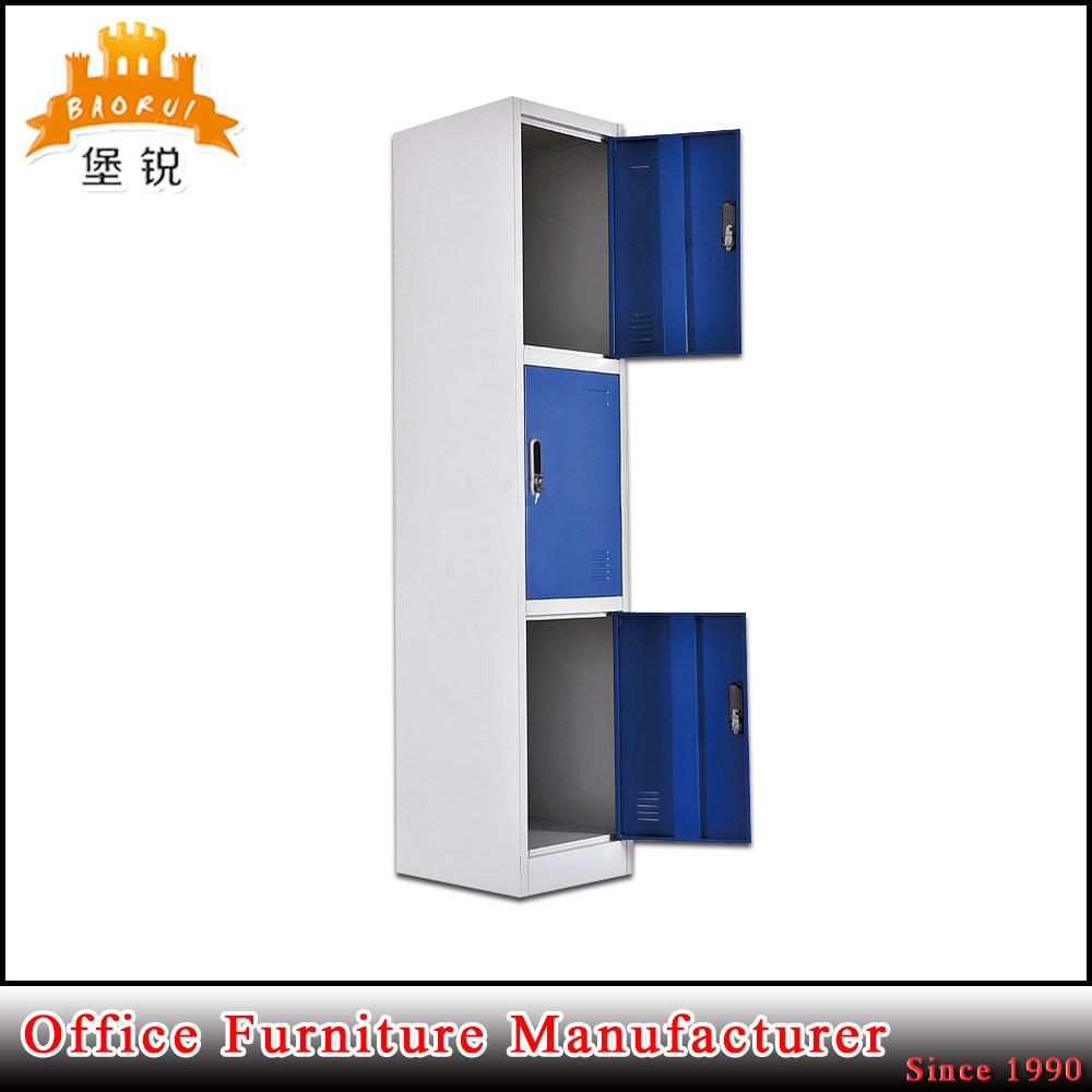 Modern Design 3 Door Clothes Lock Box Metal Clothing Furniture School Steel Lockers