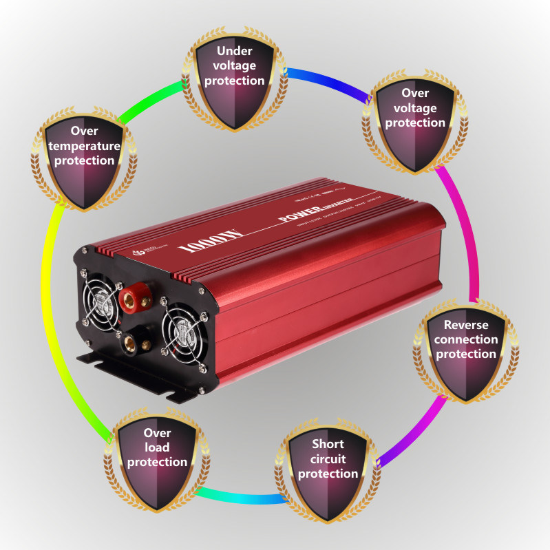 12V/24V/48V DC to AC 3000W Pure Sine Wave Power Inverter for Home Use