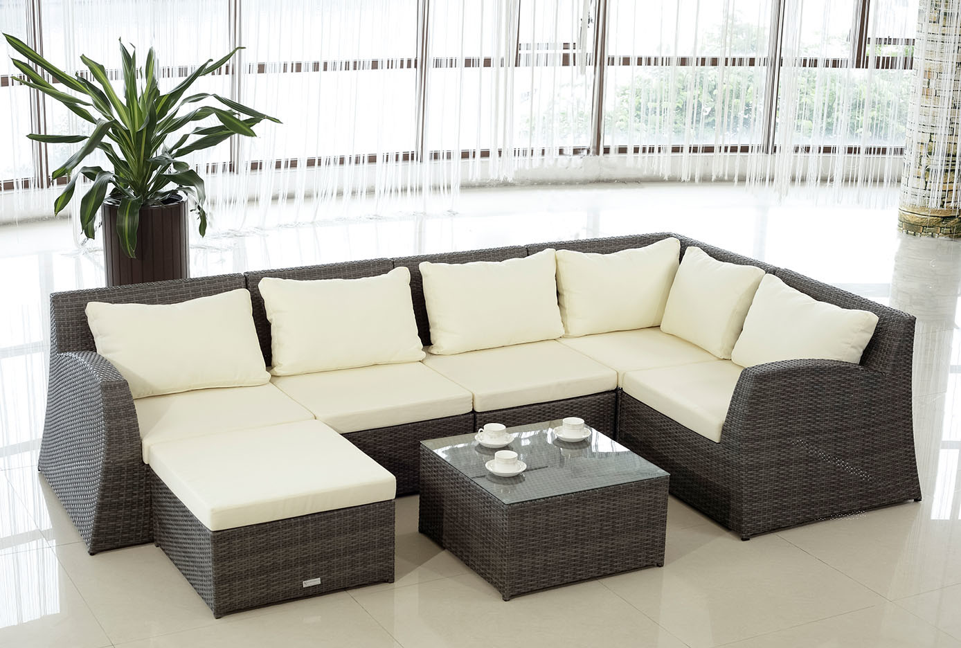 rattan lounge set schwarz neuesten design. Black Bedroom Furniture Sets. Home Design Ideas
