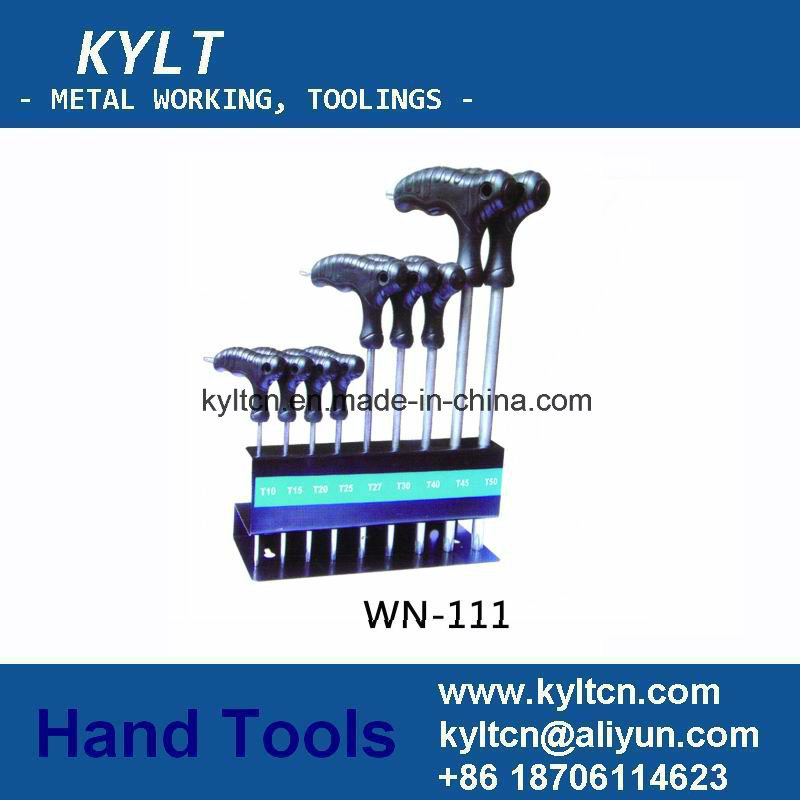 Card Packing Nickel Plating Ball Head Hex Allen Wrench Set
