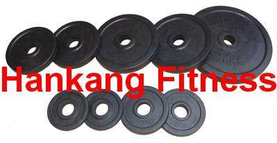 professional dumbbell, 26mm (29mm) Black Rubber Weight Plate (HW-004)