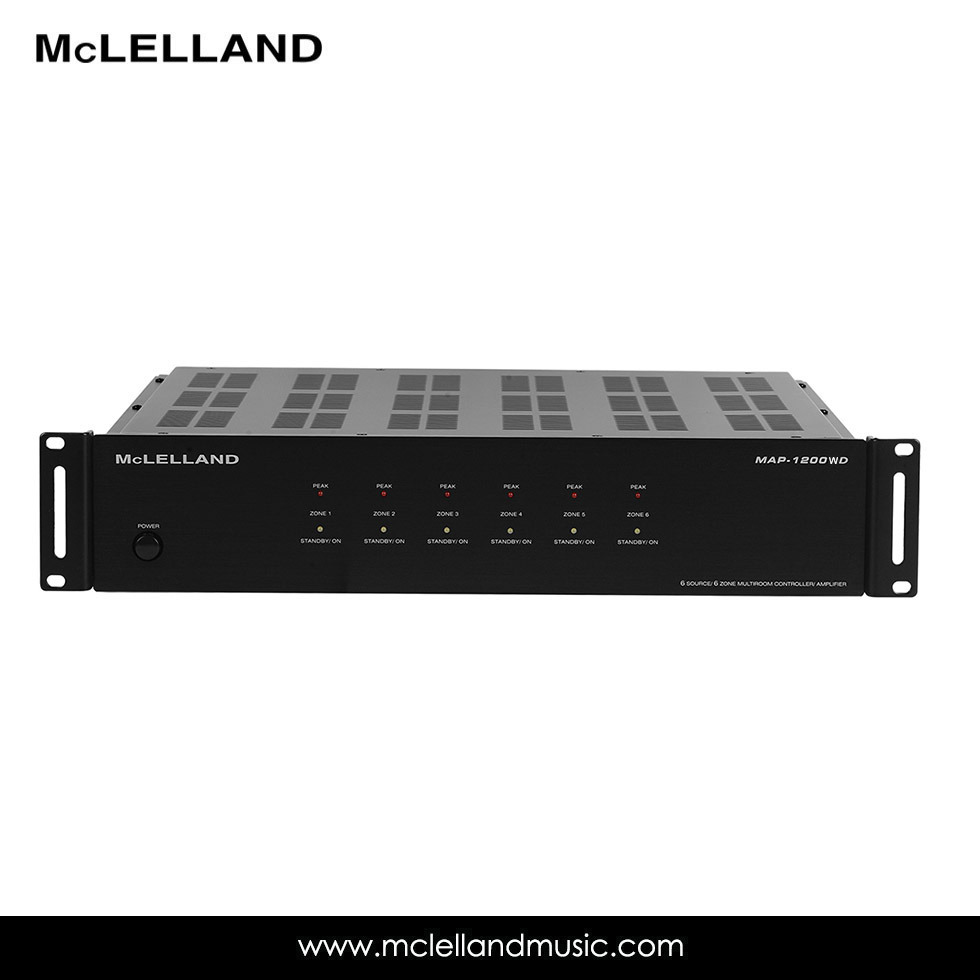 6 Source/Zone Audio Distribution Amplifier with WiFi (MAP-1200WD)