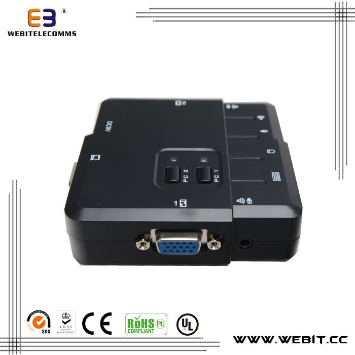 2 Ports VGA Single Kvm Console