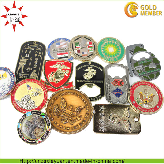 3D Customize Metal Challenge Coin for Souvenir