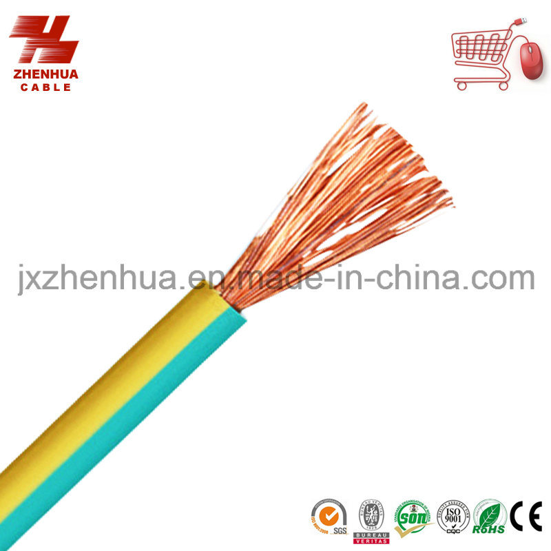 PVC Green Yellow Ground Wire 16mm 25mm Welding Cable