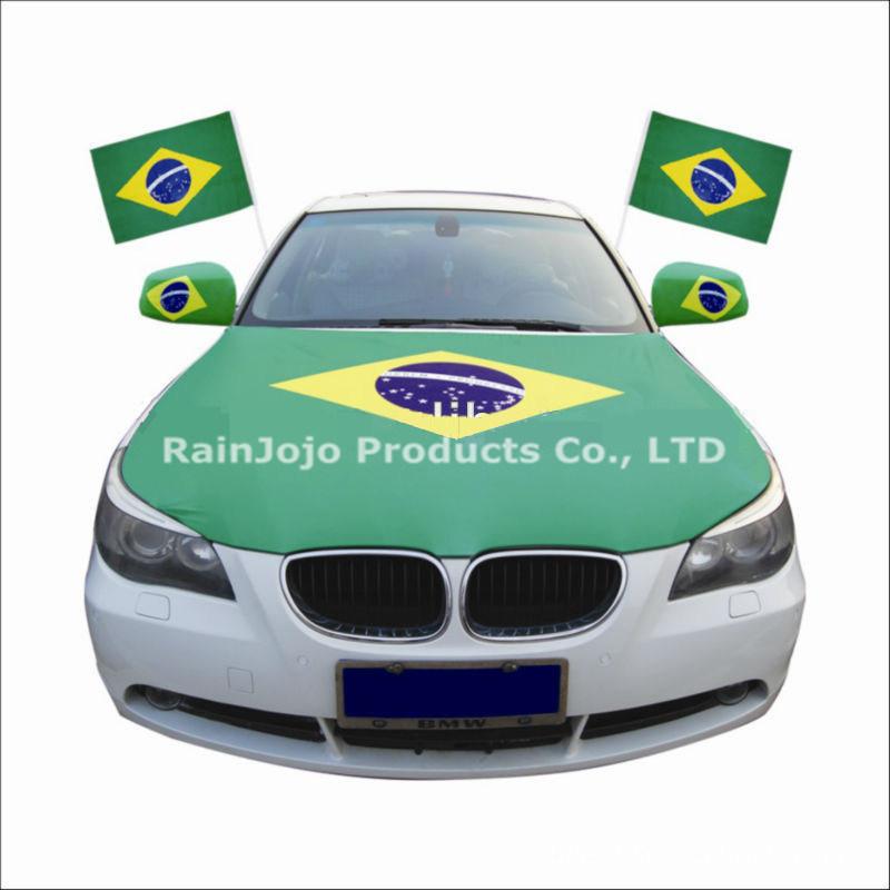 Brasil Car Mirror Flag