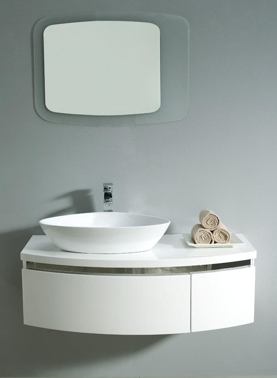 MDF White Color Bathroom Vanity Bathroom Cabinet 022 1050 China Bathroom
