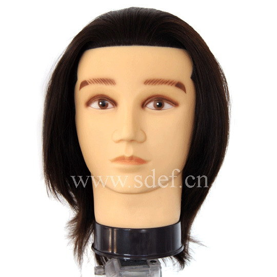 Human Hair Mannequin Head (JD-KI-06)