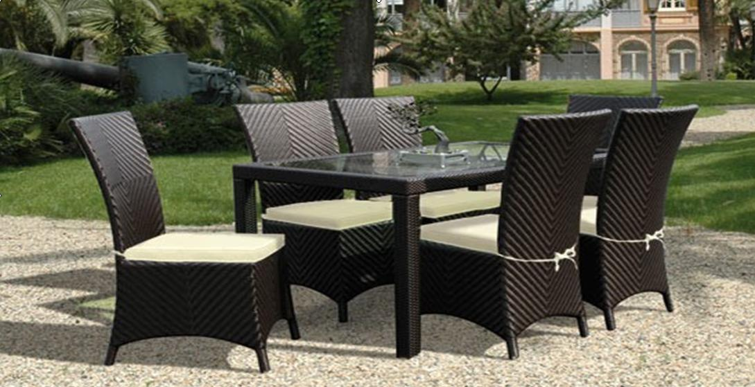 China Synthetic Rattan Furniture Dining Set RD 5043