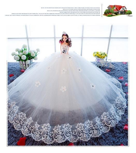 11 Inch Plastic Dolls with Wedding Dress, Girl Toys, Wedding Dolls