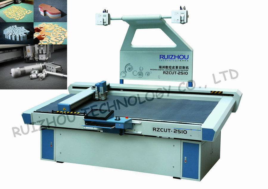 Vibrating Knife CNC Leather Cutting Machine (RZCUT-2510)