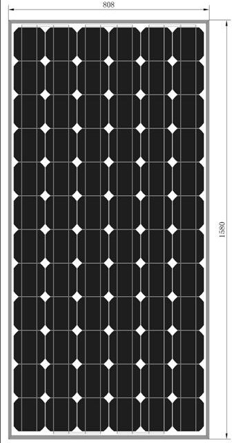 Monocrystalline Solar Panel (CNSDPV-165(S))