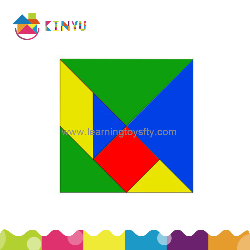Plastic Puzzle Pieces, Plastic Tangrams for Game