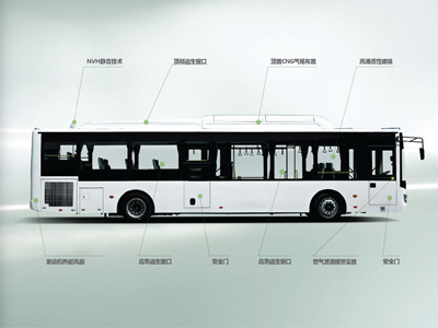 Sunlong Slk6109au6n Natural Gas City Bus