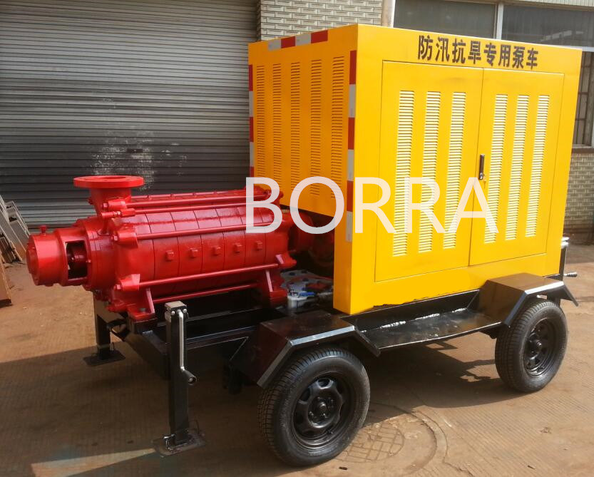 Multistage High Pressure Diesel Water Pump with Trailer