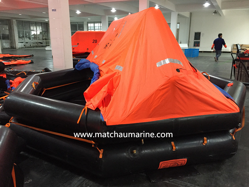20 Men Auto Inflatable Solas Approval Life Raft
