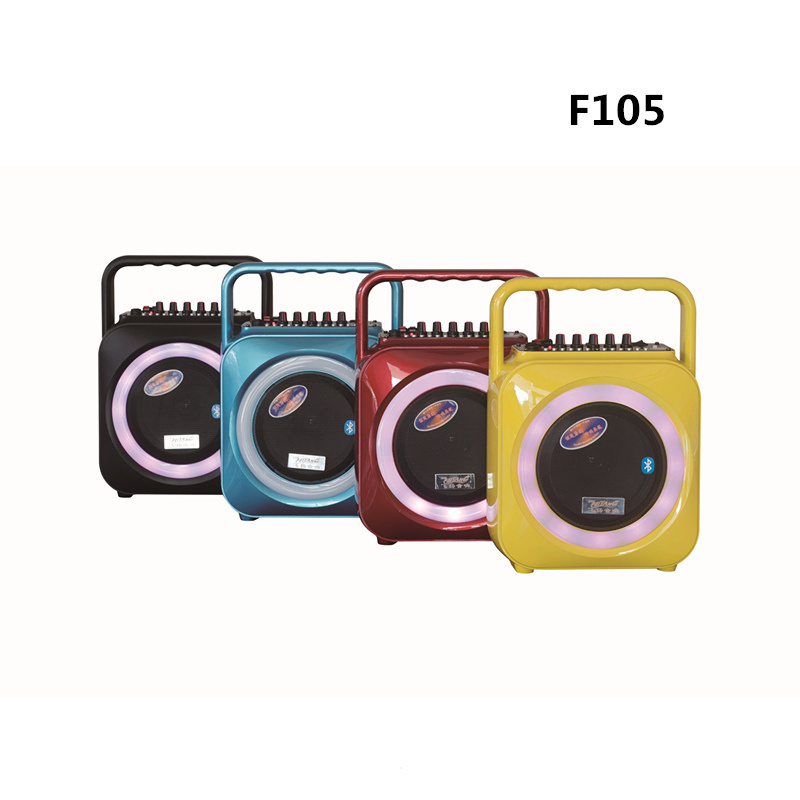6.5 Inch Multi Color Portable Mini Bluetooth Speaker with Handle F105