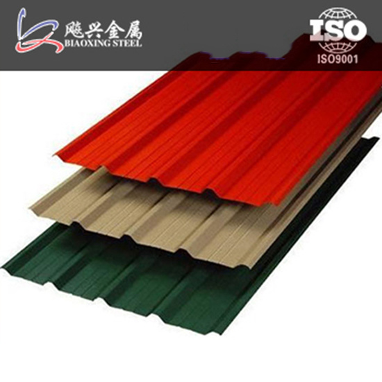 Long Span Colored Zinc Aluminium Trapezium Roofing Sheet