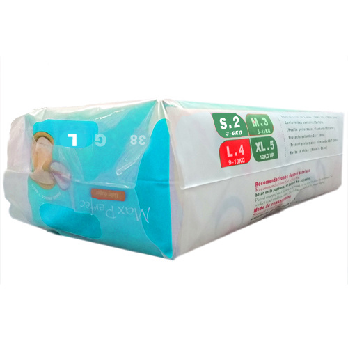 Soft and Breathable Baby Diapers (blue package, L)