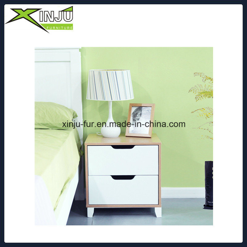 Simple Bedside Cabinet with 2 Drawers
