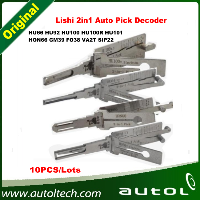 Lishi 2in1 Hu66, Hu92. Hu100, Hu100r, Hu101, Hon66, GM39, Fo38, Va2t, SIP22 Pick Decoder From Locksmith Supplier, 100% Original Quality!