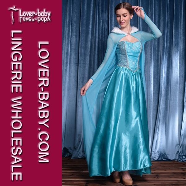 Adult Snow Frozen Elsa Princess Cosplay Costume Party Costume (L15242)