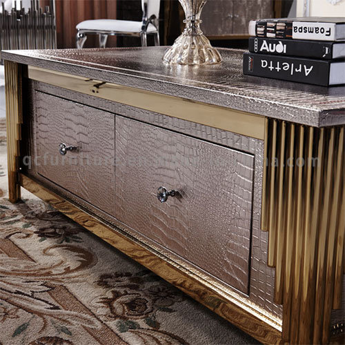 Rectangle MDF Coffee Table with Stainless Steel Frame Table Hotel Furniture