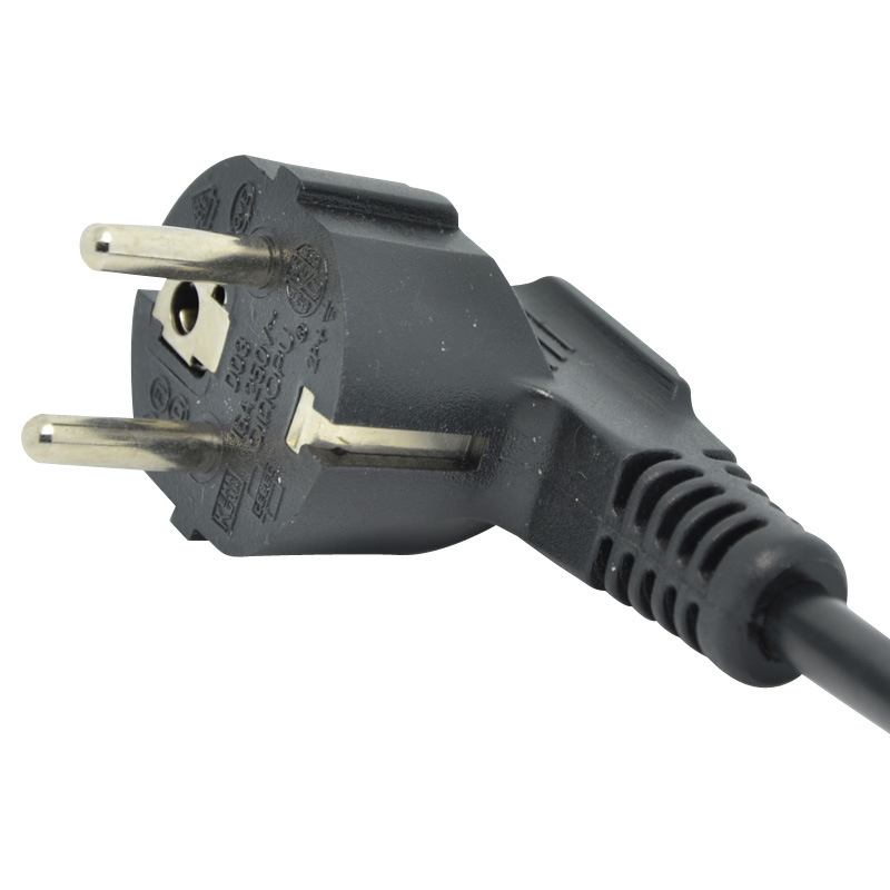OEM European Three Pins AC Power Plug with VDE Certification