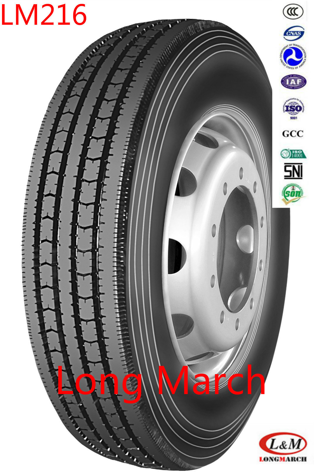 Longmarch/Double Coin 315/80R22.5 11R22.5 Radial Truck Tire (LM216)