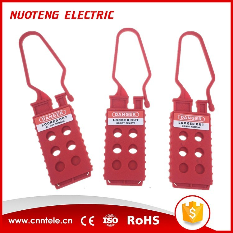 Non-Conductive Nylon Plastic Electrical Safety Lockout Hasp