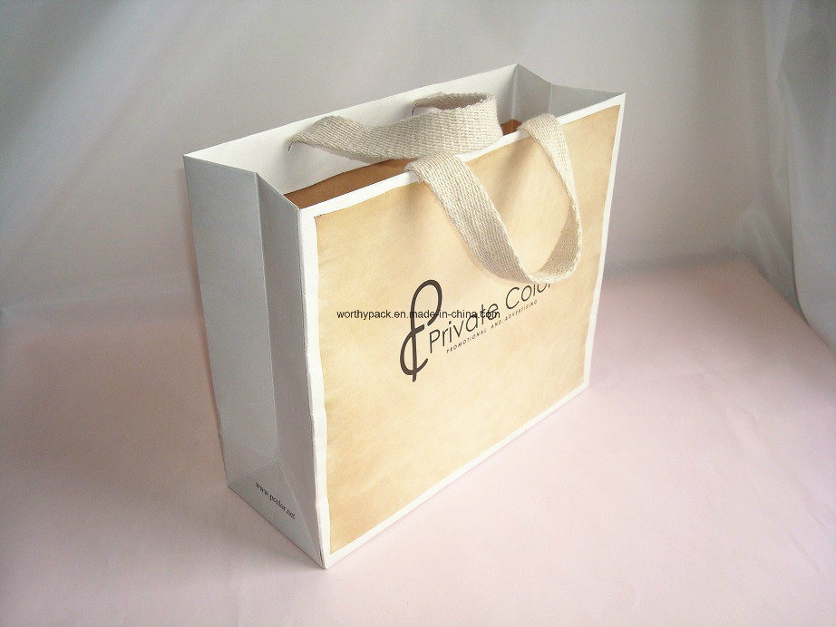 Paper Handle Bag for Promotion and Advertising