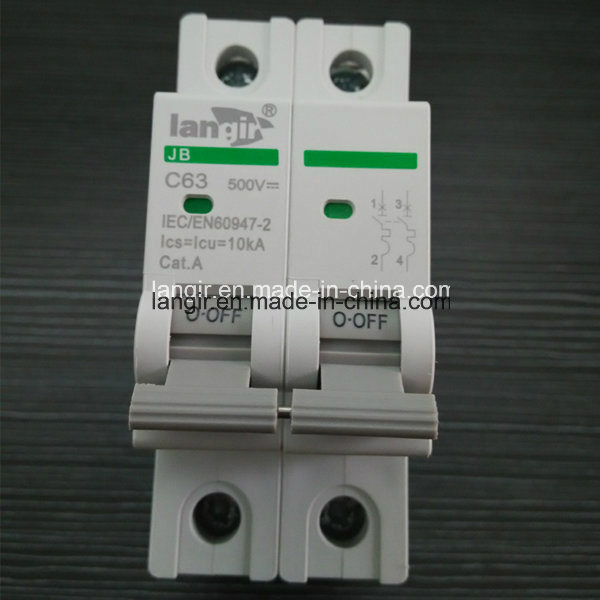 2p DC 500V Solar Photovoltaic DC Circuit Breaker with TUV Certificate