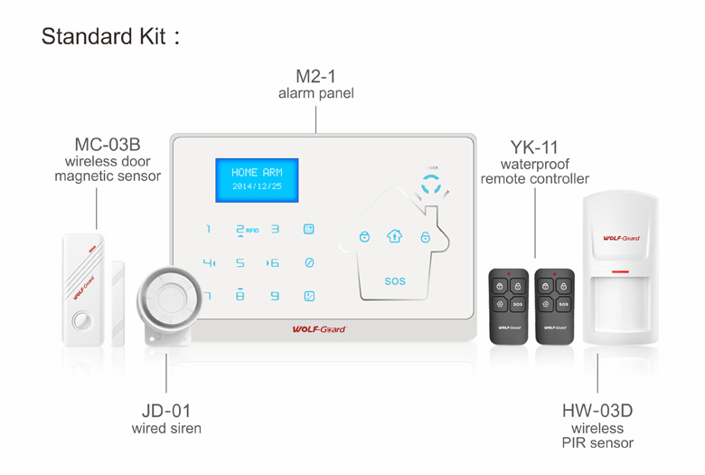 GSM and PSTN Double Network Intelligent Home Security Burglar Alarm with Door Bell Function