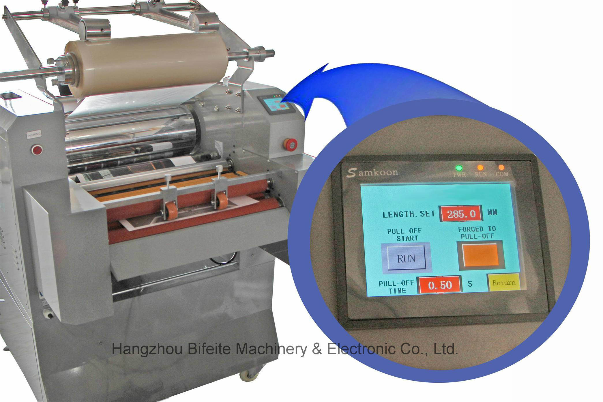 FM-520D Automatic hydraulic laminating machine/High pressure anti roll film machine