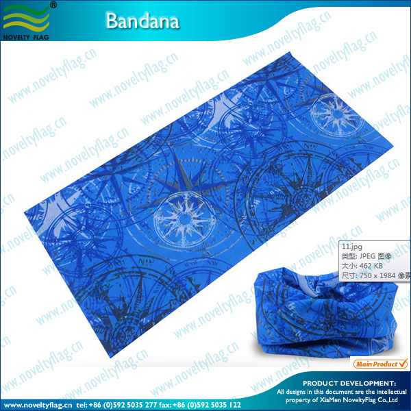 Multi-Function Knitted Seamless Blue Bandana (J-NF20F19020)