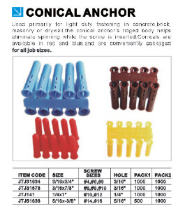 China Supplier Good Quality Low Price Conical Anchor