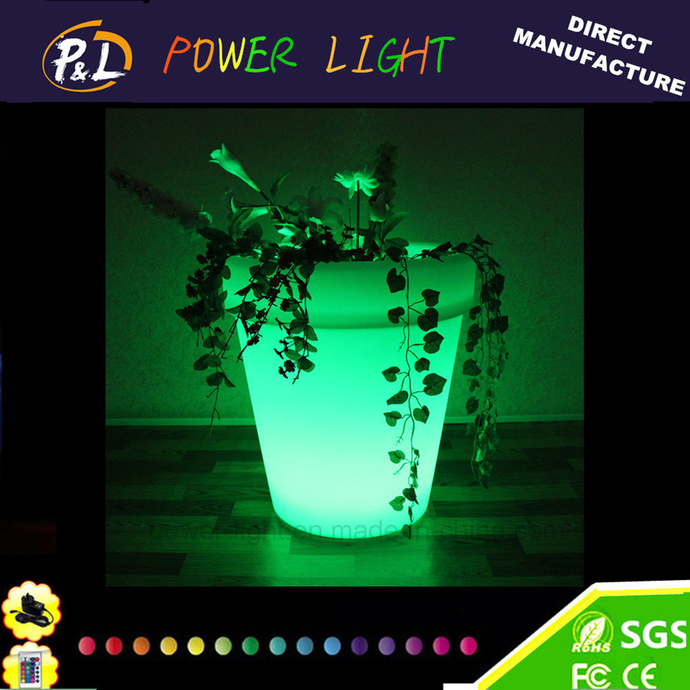 Waterproof Plastic Flower Pot/ Garden LED Flower Pot
