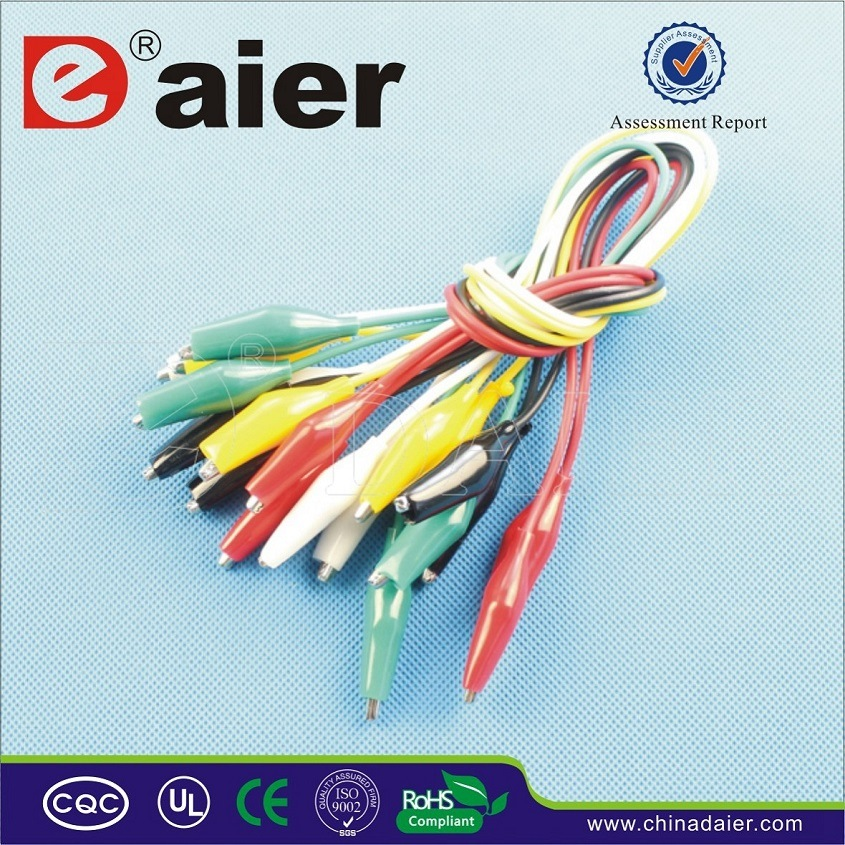 5 Colors Insulated Alligator Clips with Wire (WD038A)