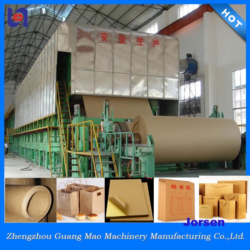 Kraft Paper Making Machine, Craft Paper Jumbo Roll Production (2400mm)