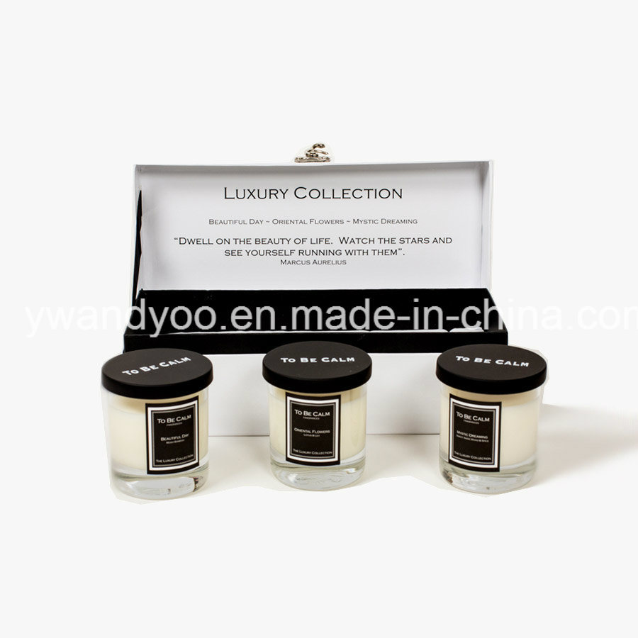 Luxury Collection Beautiful Day Organic Soy Wax Natural Scented Glass Candle