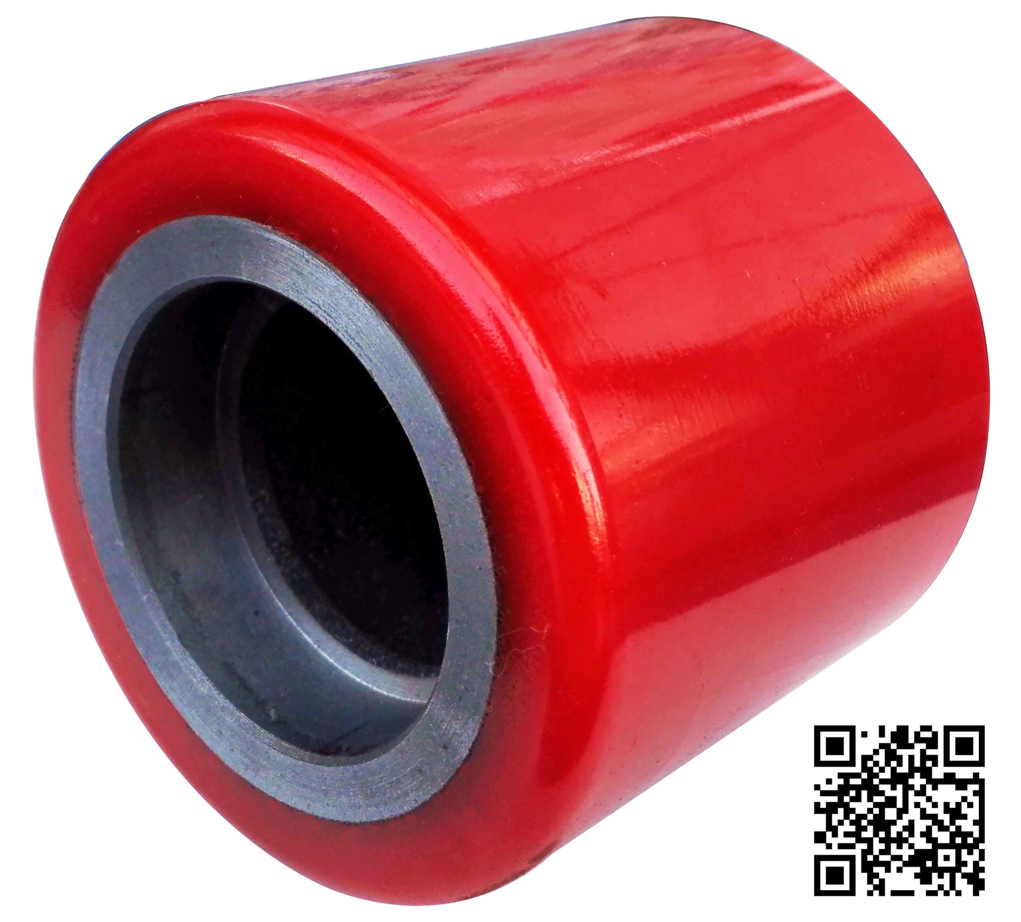 100mm Red PU Forklift Caster Wheel for Warehouse