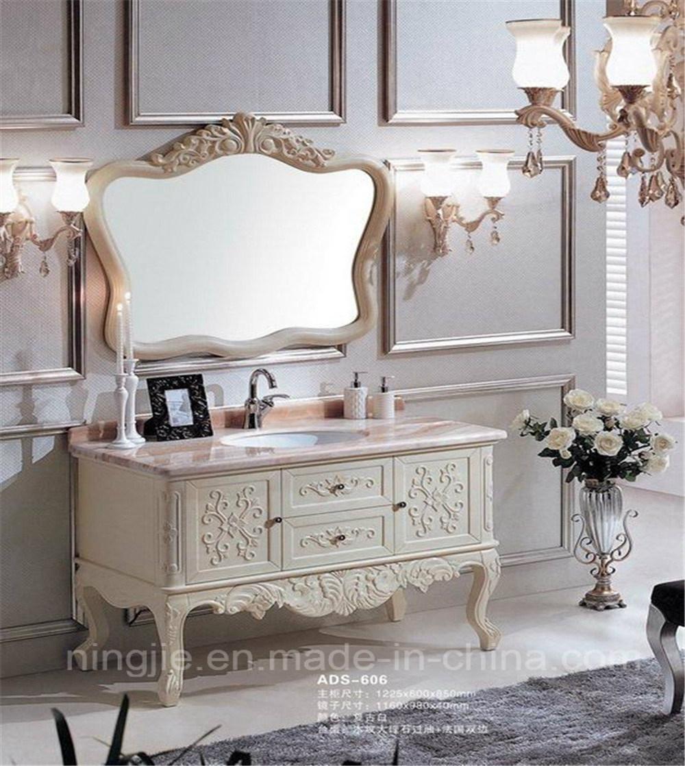 Classcial Luxury Solid Wood Oak Bathroom Vanity (ADS-606)